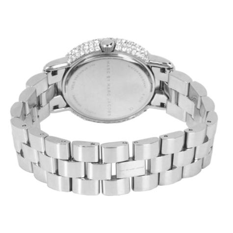 Marc Jacobs Marci Ladies Watch | Crystal Bezel Silver Dial | Stainless Strap | MBM3190 Thumbnail 3