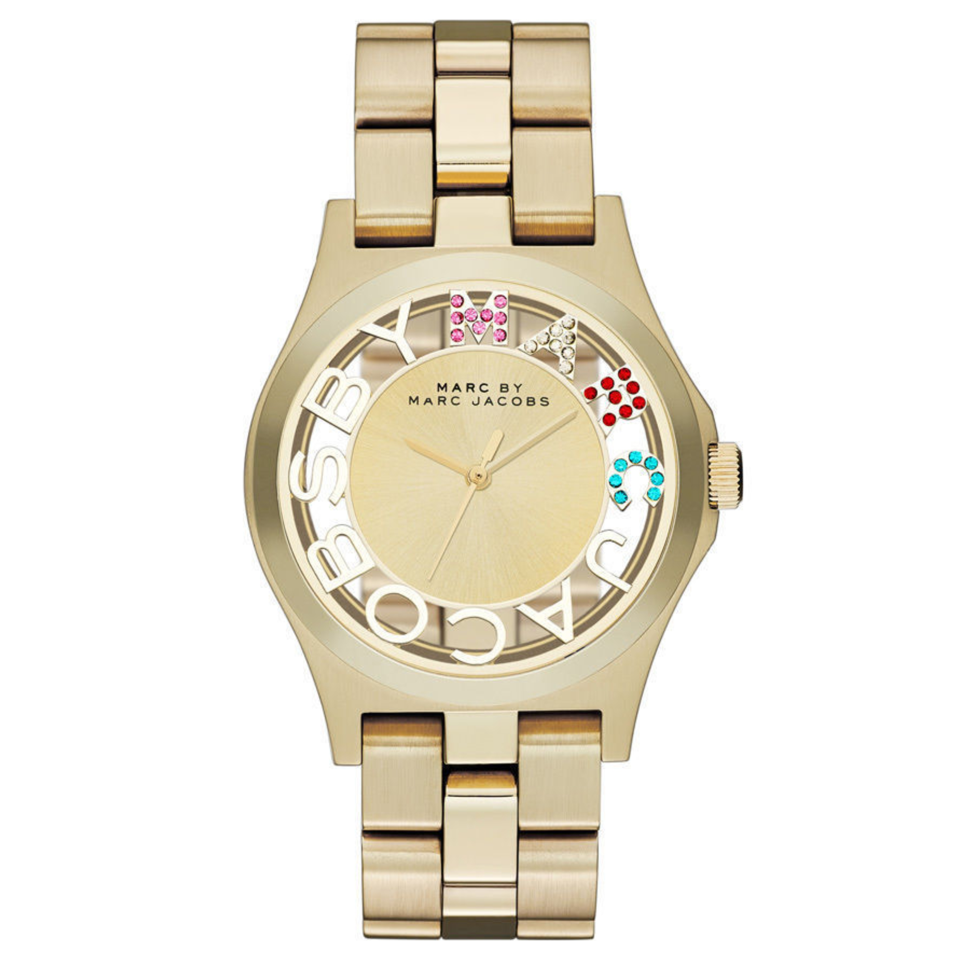 Marc Jacobs Henry Skeleton Ladies Watch | Gold Tone Plated | Stainless Strap | MBM3263