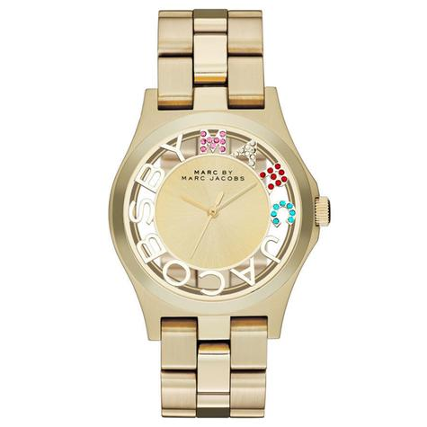 Marc Jacobs Henry Skeleton Ladies Watch | Gold Tone Plated | Stainless Strap | MBM3263 Thumbnail 1