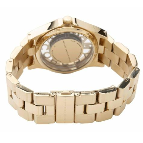 Marc Jacobs Henry Skeleton Ladies Watch | Gold Tone Plated | Stainless Strap | MBM3263 Thumbnail 2