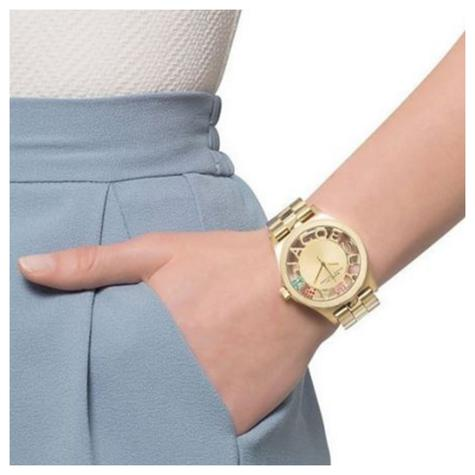 Marc Jacobs Henry Skeleton Ladies Watch | Gold Tone Plated | Stainless Strap | MBM3263 Thumbnail 3