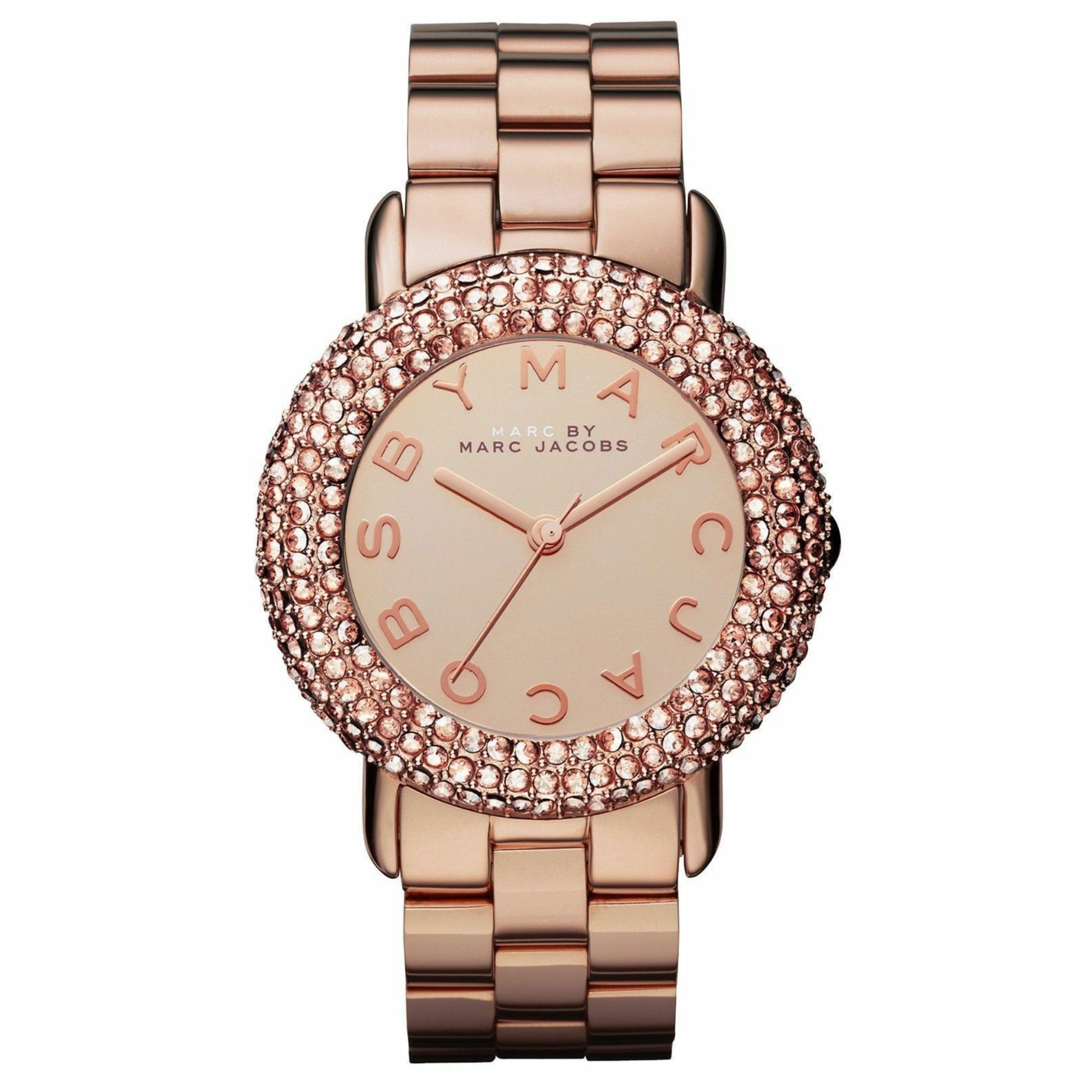 Marc Jacobs Marci Ladies Watch | Crystal Bezel Rose Gold Dial | Stainless | MBM3192