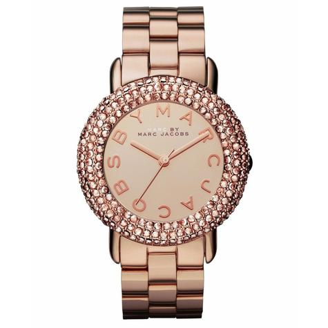Marc Jacobs Marci Ladies Watch | Crystal Bezel Rose Gold Dial | Stainless | MBM3192  Thumbnail 1