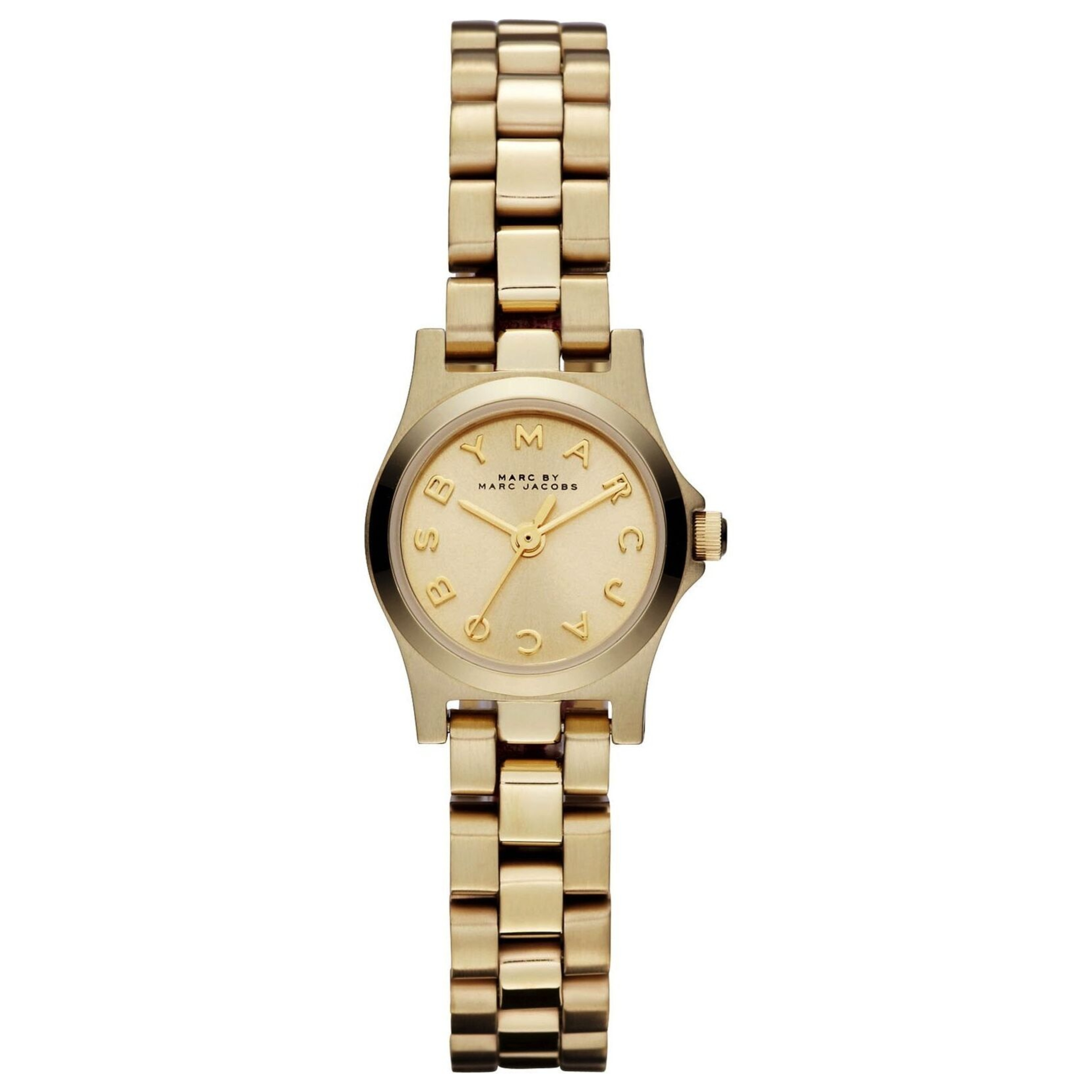 Marc Jacobs Dinky Henry Ladies Watch | Champagne Dial | Gold Plated Strap | MBM3199