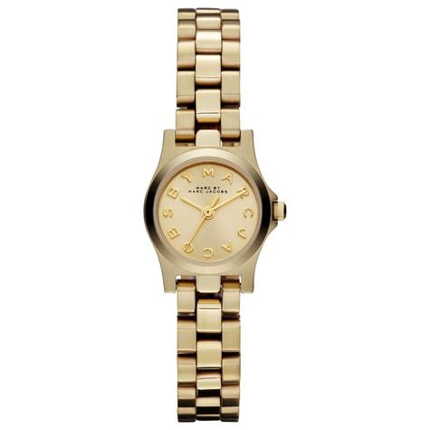 Marc Jacobs Dinky Henry Ladies Watch | Champagne Dial | Gold Plated Strap | MBM3199 Thumbnail 1
