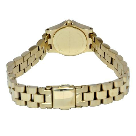 Marc Jacobs Dinky Henry Ladies Watch | Champagne Dial | Gold Plated Strap | MBM3199 Thumbnail 2