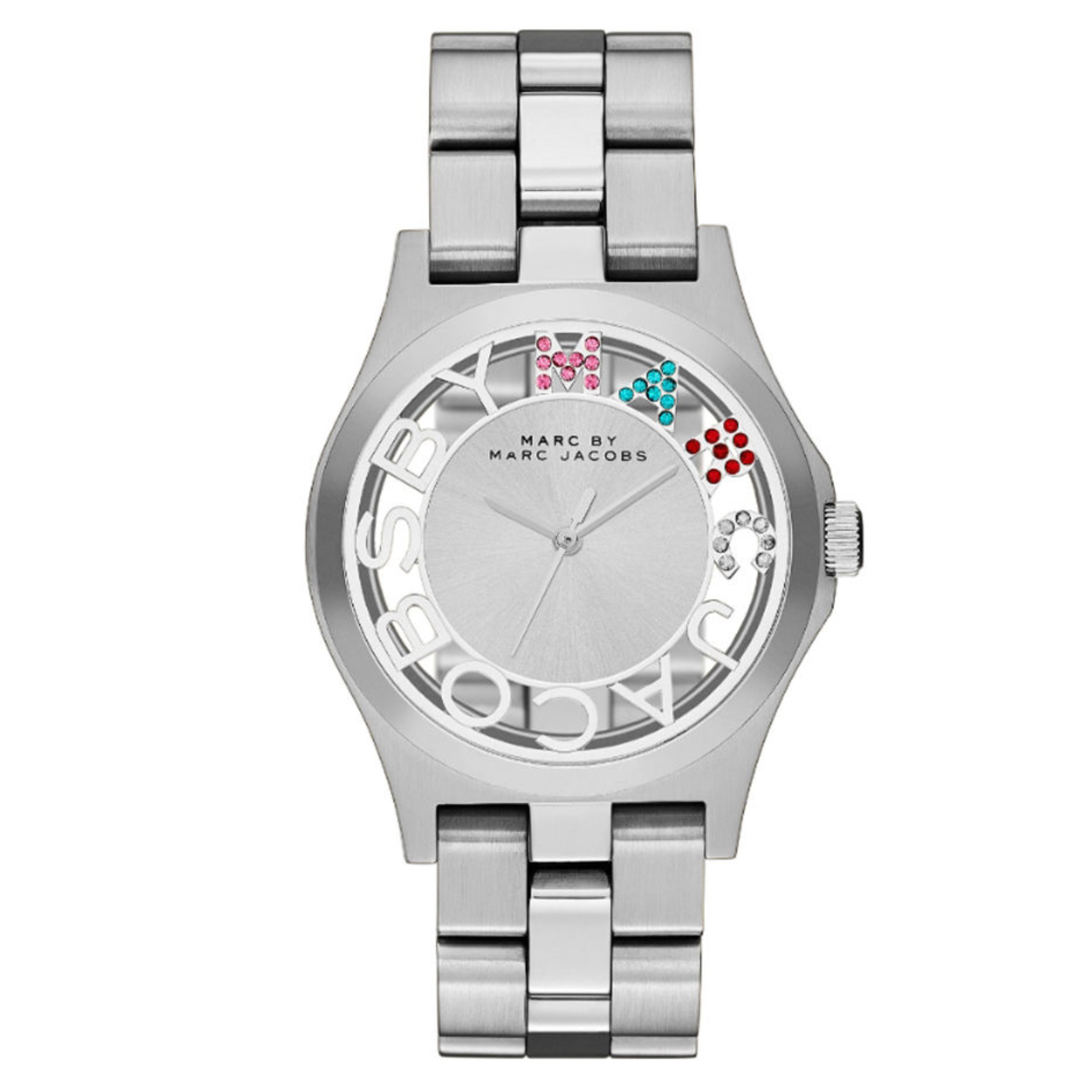 Marc Jacobs Henry Skeleton Ladies Watch | Silver Plated | Stainless Strap | MBM3262