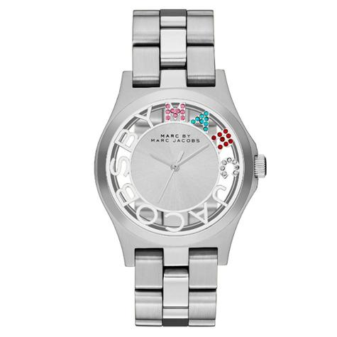 Marc Jacobs Henry Skeleton Ladies Watch | Silver Plated | Stainless Strap | MBM3262 Thumbnail 1
