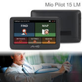 Mio Pilot 15 LM Car GPS Sat Nav | Full Europe Lifetime Maps Updates | 5? Touchscreen