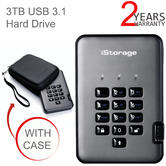 iStorage diskAshur Pro2 3TB USB 3.1 Portable Encrypted Hard Drive | FIPS Certified | For PC & Mac