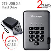 iStorage diskAshur Pro2 5TB USB 3.1 Portable Encrypted Hard Drive | FIPS Certified | For PC & Mac