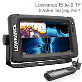 Lowrance Elite-9 Ti2 Chartplotter/ Fishfinder & Acitve Imaging 3-in-1 Txd | For Marine