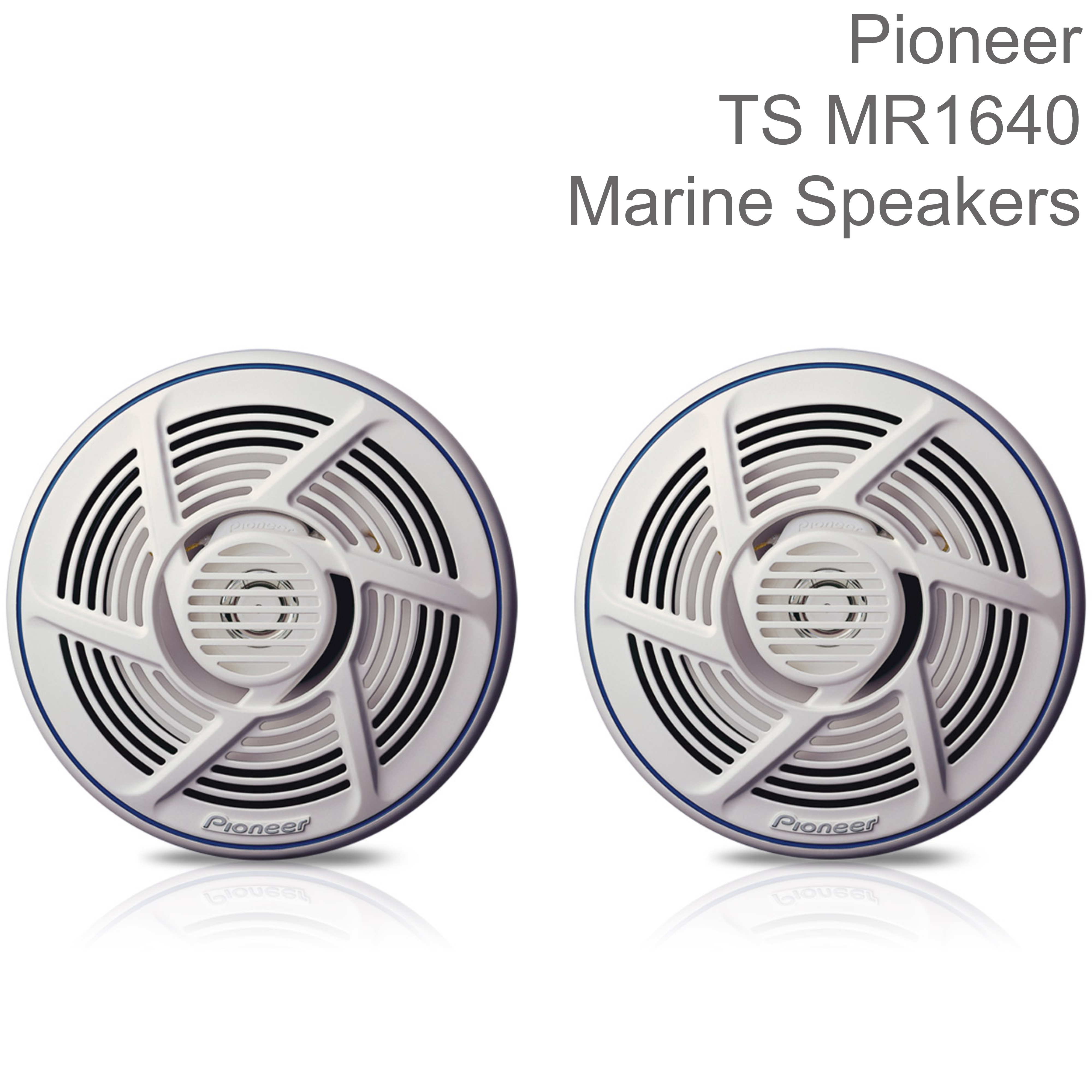 Pioneer 16cm 2-Way Marine Audio Speakers   Water-resistant   160W Max Power   White