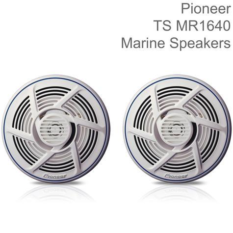 Pioneer 16cm 2-Way Marine Audio Speakers   Water-resistant   160W Max Power   White Thumbnail 1