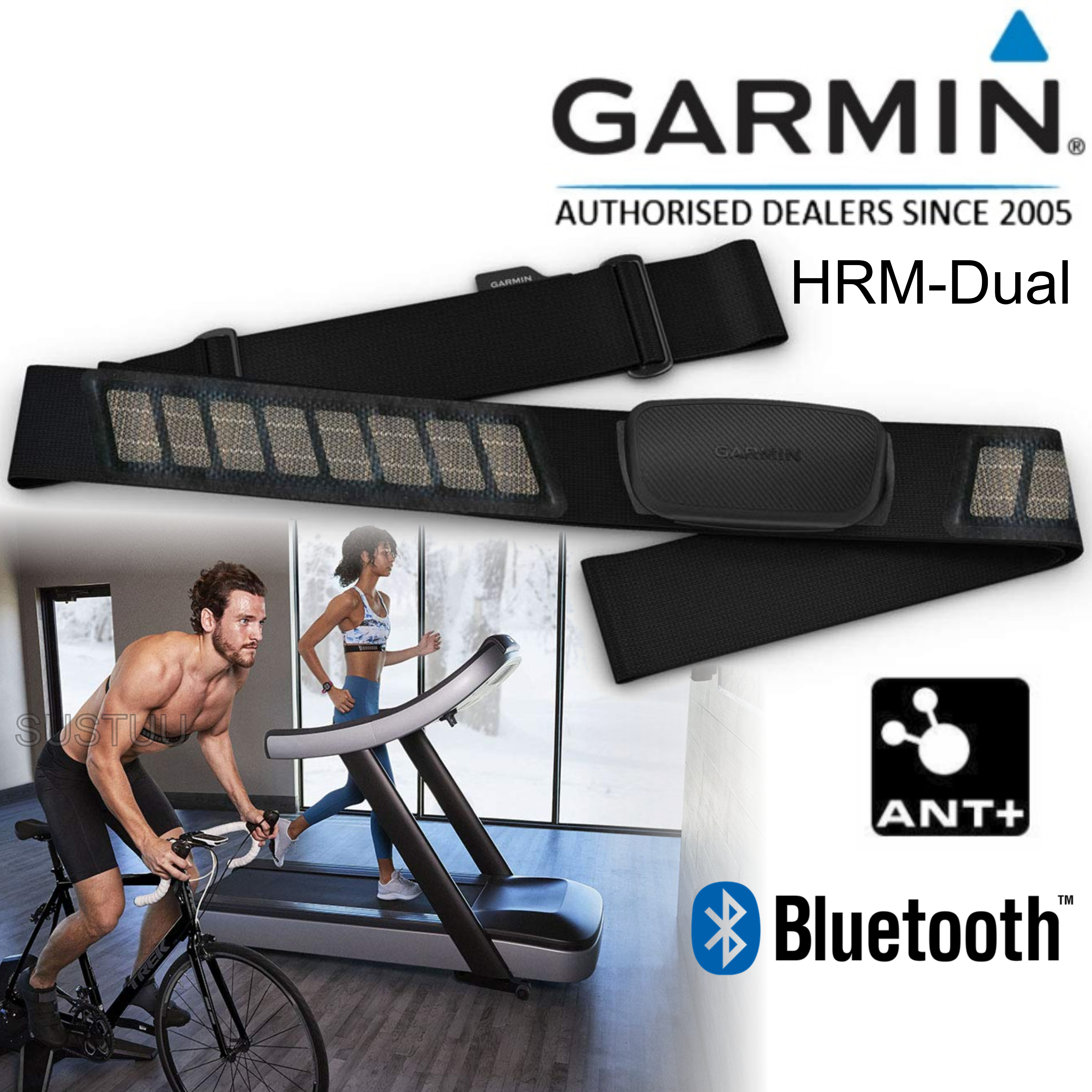 Garmin HRM-Dual | Heart Rate Monitor Strap | For Forerunner 735XT/910XT/920XT/935