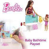 Barbie Skipper Babysitters Baby Bathtime Playset | Kid's Inspiration Doll Toy | 3y+