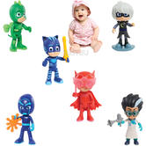 PJ Masks Deluxe 15cm Talking Figure Assortment | Animated Series | Pack Of 6 | 3yrs+