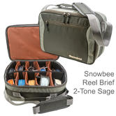 Snowbee Reel Brief Fly Reel Case | 2-Tone Sage | For Fishing Accessories | Green