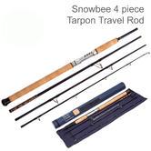 Snowbee Deep Blue 4 Piece Tarpon Travel Rod - 10000 | Deep Blue | 9Ft / 60 - 100g