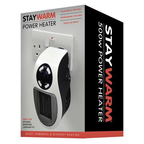 Lloytron Staywarm 500w Plugin Heater | Digital LED Display | Overheat Protect | F2210W Thumbnail 5