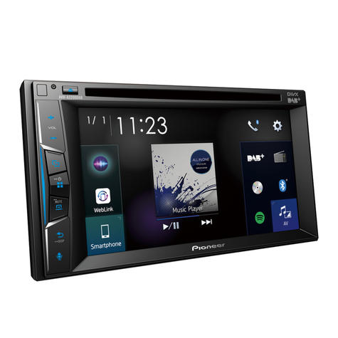 Pioneer Car Stereo | DAB+ Radio | 2-Din Multimedia Player | Bluetooth | iPod-iPhone | USB Thumbnail 3
