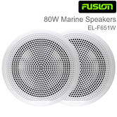 "Fusion EL-F651W 6.5"" 80W EL Series Shallow Mount Marine Speaker 