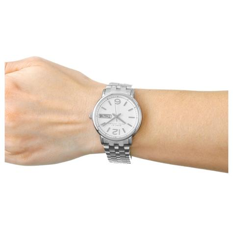 Marc Jacobs Fergus Ladies Watch | Day Date White Dial | Stainless Steel Strap | MBM8646 Thumbnail 3