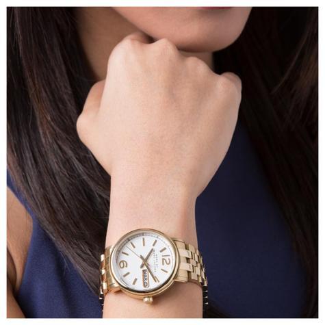 Marc Jacobs Fergus Ladies Watch | White Dial | Gold Tone Stainless Strap | MBM8647 Thumbnail 2