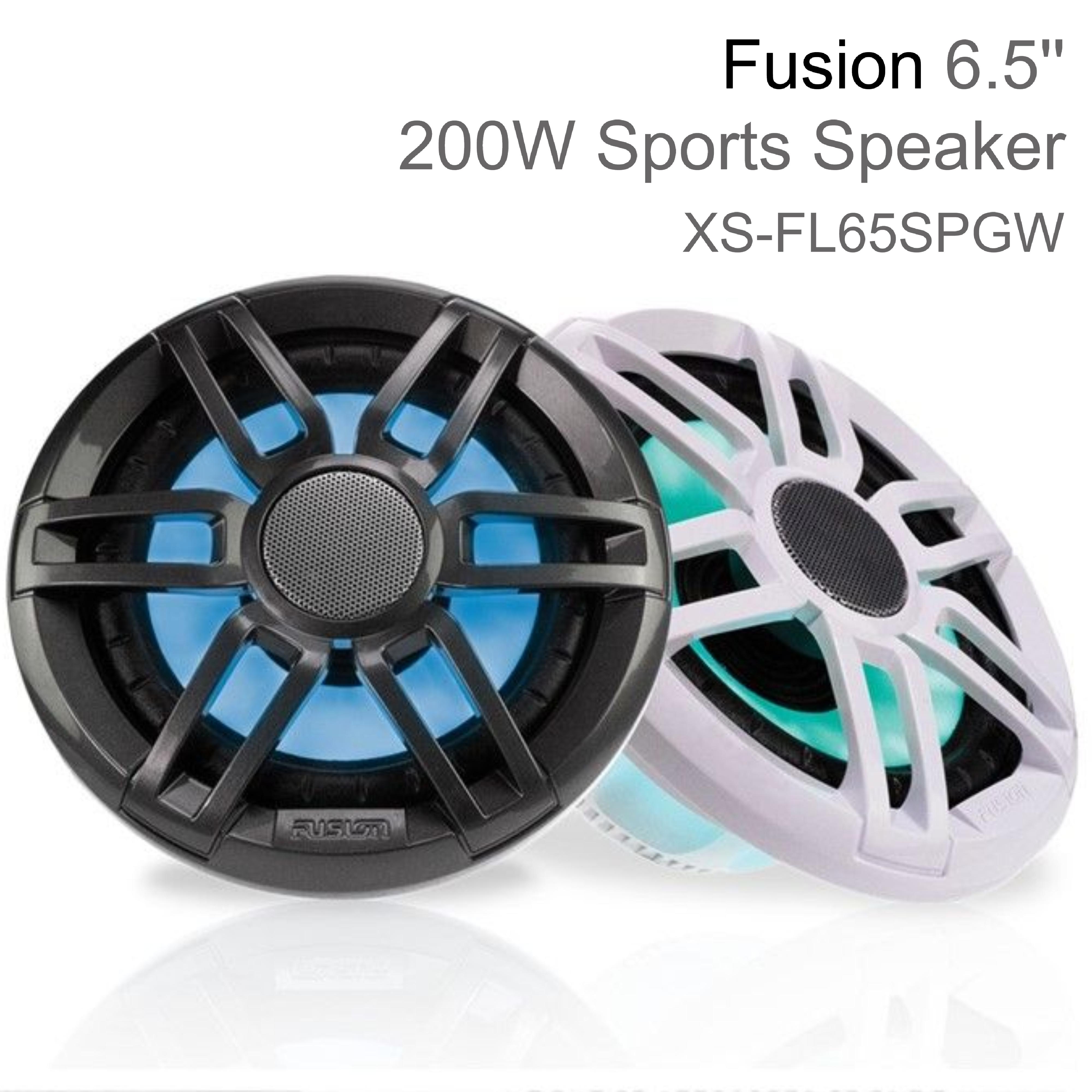 "Fusion XS-FL65SPGW 6.5"" 200W XS Series Marine Sports LED Speaker | IP65 | Grey & White"