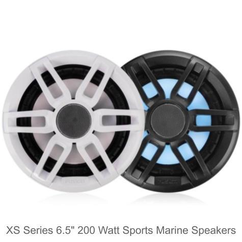 "Fusion XS-FL65SPGW 6.5"" 200W XS Series Marine Sports LED Speaker | IP65 | Grey & White Thumbnail 2"