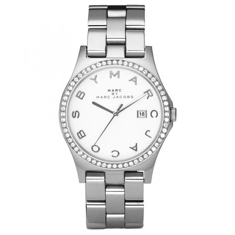 Marc Jacobs Henry Ladies Watch | White Dial | Daimond Bezel Stainless Strap | MBM3044 Thumbnail 1
