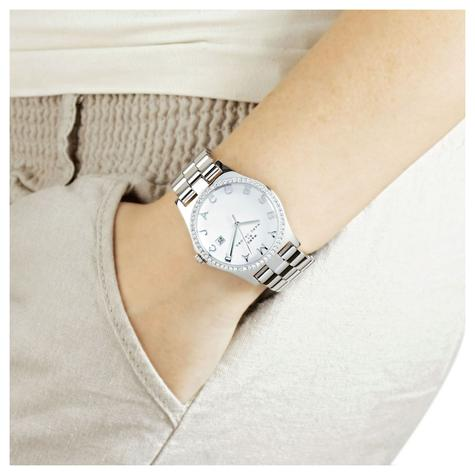 Marc Jacobs Henry Ladies Watch | White Dial | Daimond Bezel Stainless Strap | MBM3044 Thumbnail 2
