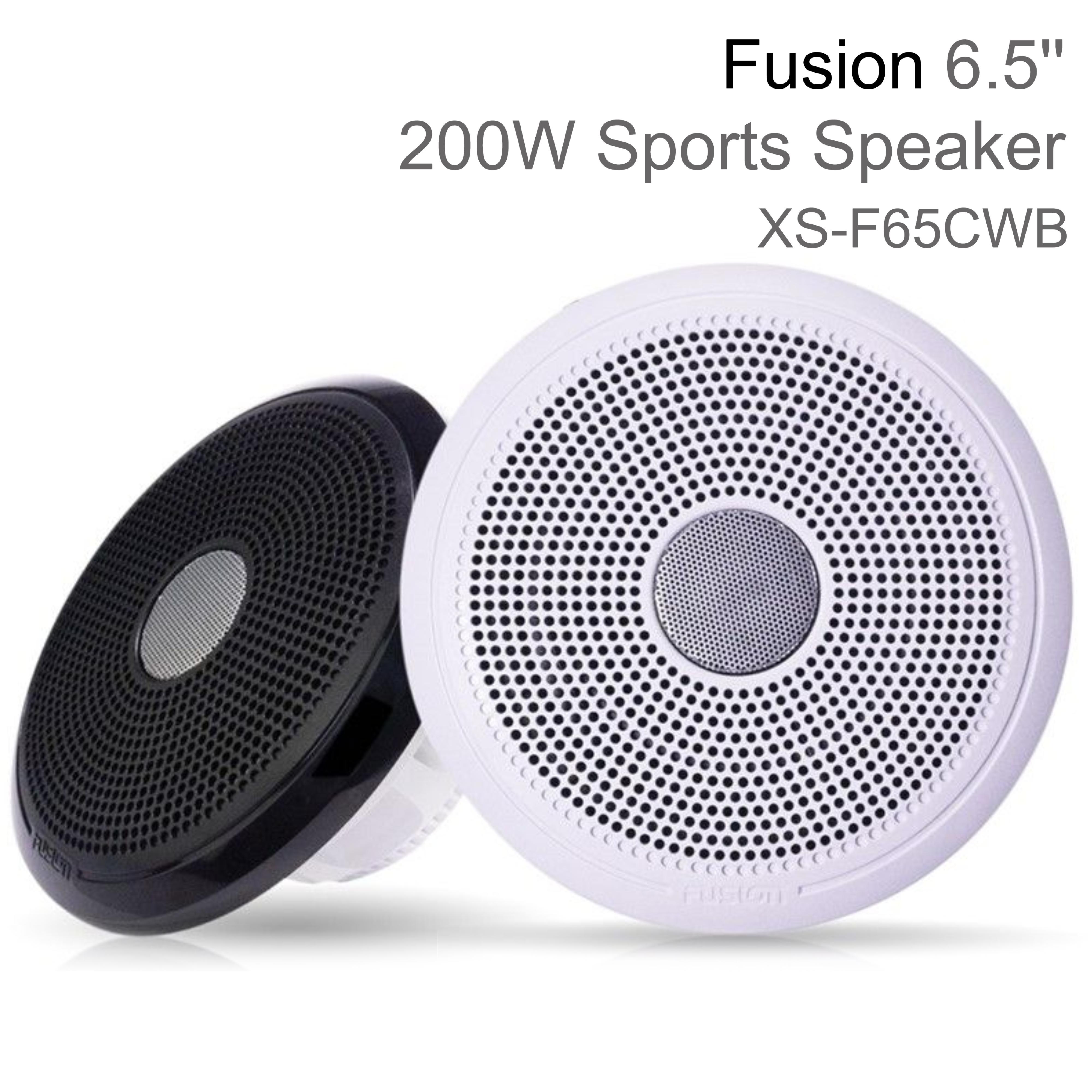 "Fusion XS-FL65SPGW 6.5"" XS Series Marine Sports LED Speaker | IP65 | Grey & White"