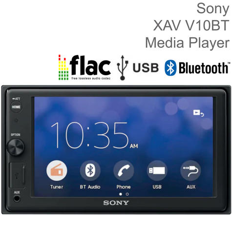 """Sony Car Stereo Player   2-Din Media Receiver   Bluetooth   USB/AUX   6.2"""" Touchscreen Thumbnail 1"""