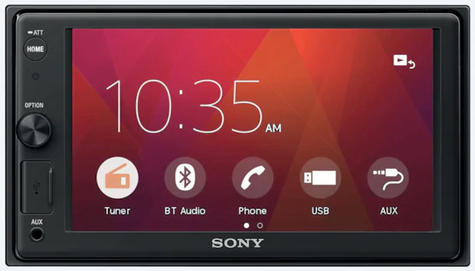 """Sony Car Stereo Player   2-Din Media Receiver   Bluetooth   USB/AUX   6.2"""" Touchscreen Thumbnail 3"""