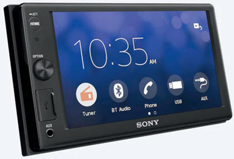 """Sony Car Stereo Player   2-Din Media Receiver   Bluetooth   USB/AUX   6.2"""" Touchscreen Thumbnail 4"""