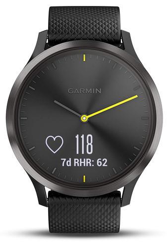 Garmin Vivomove HR Hybrid Sport Smartwatch | Heart Rate Monitor | ANT+ | Large | Black Thumbnail 3