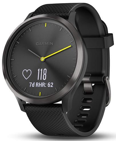 Garmin Vivomove HR Hybrid Sport Smartwatch | Heart Rate Monitor | ANT+ | Large | Black Thumbnail 4