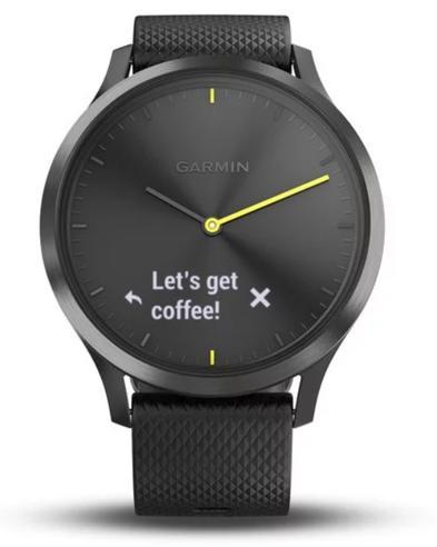 Garmin Vivomove HR Hybrid Sport Smartwatch | Heart Rate Monitor | ANT+ | Large | Black Thumbnail 5