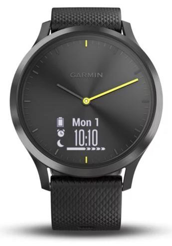 Garmin Vivomove HR Hybrid Sport Smartwatch | Heart Rate Monitor | ANT+ | Large | Black Thumbnail 7