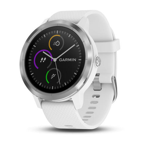 Garmin Vivoactive 3 GPS Running HRM Sports Smartwatch | Heart Rate | Bluetooth | White Thumbnail 2