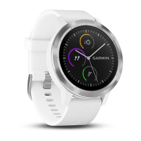 Garmin Vivoactive 3 GPS Running HRM Sports Smartwatch | Heart Rate | Bluetooth | White Thumbnail 3