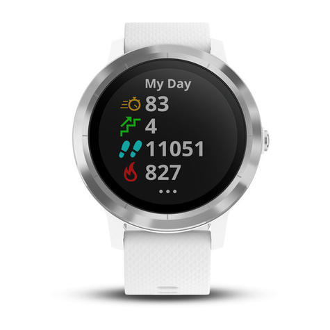 Garmin Vivoactive 3 GPS Running HRM Sports Smartwatch | Heart Rate | Bluetooth | White Thumbnail 4