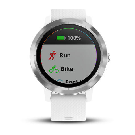 Garmin Vivoactive 3 GPS Running HRM Sports Smartwatch | Heart Rate | Bluetooth | White Thumbnail 5