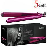 BaByliss Pro 235°C Smooth Hair Straightener | 3 Temperature Settings | BA-2398U | Pink