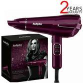 BaByliss Elegance 2100w Powerful Hair Dryer | 2-Metre Swivel Cord | Raspberry | 5560KU