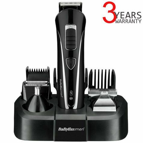 BaByliss Carbon Steel Multi Groomer For Men | Nose And Ear Hair Trimmer | Black | 7428U Thumbnail 1