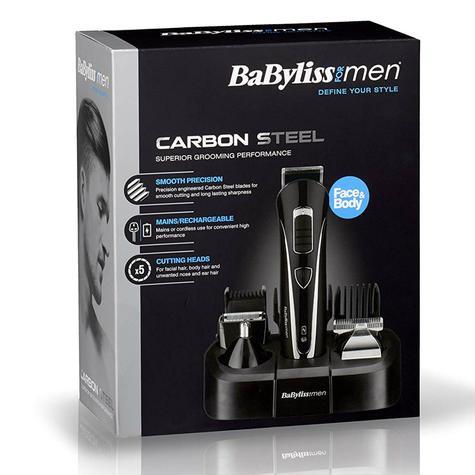 BaByliss Carbon Steel Multi Groomer For Men | Nose And Ear Hair Trimmer | Black | 7428U Thumbnail 6