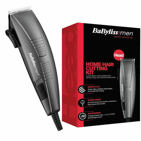 BaByliss Corded Home Hair Cutting Clipper Kit For Mens | 6 Attachements | 7452BU | NEW Thumbnail 2