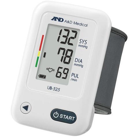 A&D Medical UB-525 Wrist Blood Pressure Monitor | IHB Indicator | Lightweight | White Thumbnail 1